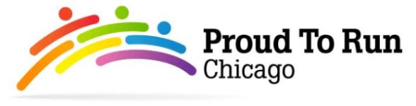 Proud to Run Chicago registration logo