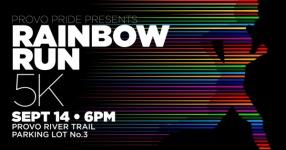 Provo Pride Rainbow Run 5k registration logo