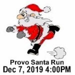 Provo Santa Run registration logo