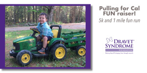 Pulling for Cal FUN raiser, 5k & 1mile fun run registration logo