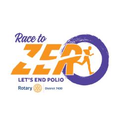 Purple Pinkie Race to Zero Virtual District 7430 Polio Challenge registration logo