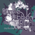 Purple Ribbon Run registration logo