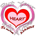Put Your Heart Into A Cure 5k Run/Walk registration logo