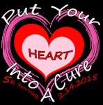 Put Your Heart Into A Cure 5k Run/Walk registration logo