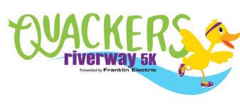 Quackers Riverway 5K registration logo