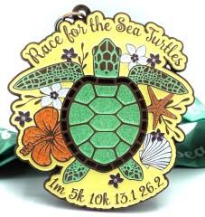 Race for the Sea Turtles 1M 5K 10K 13.1 26.2 registration logo