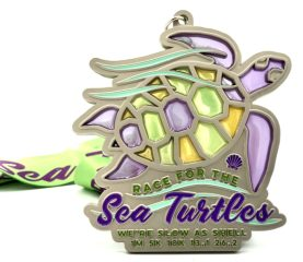 Race for the Sea Turtles - We're Slow As Shell registration logo