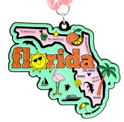 Race Through Florida 1M 5K 10K 13.1 26.2 50M registration logo