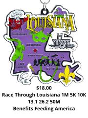 Race Through Louisiana 1M 5K 10K 13.1 26.2 50M