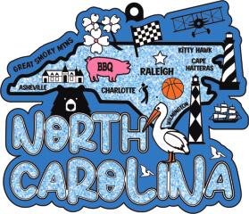 Race Through North Carolina 1M 5K 10K 13.1 26.2 50M registration logo