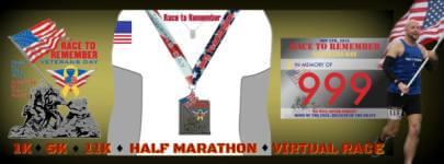 Race to Remember - Veterans Day registration logo