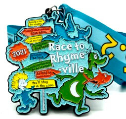 Race to Rhyme-Ville 1M 5K 10K 13.1 26.2 registration logo