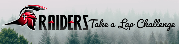 Raiders Take a Lap Challenge registration logo