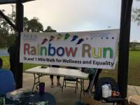 Rainbow Run 5K and 1 Mile walk for wellness and equality registration logo