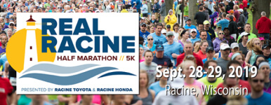 Real Racine Half Marathon & 5K Training programs registration logo