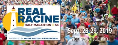 Real Racine Half Marathon & 5K Training programs registration logo