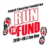 Red & Black Run to Fund registration logo