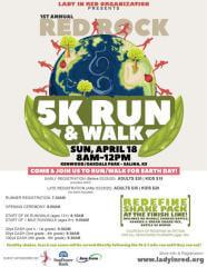 Red Rock 5k Run/walk & Races registration logo