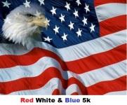 Red, White, & Blue Run registration logo