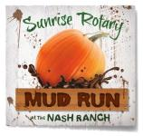 Redding Sunrise Rotary Mud Run registration logo