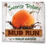 Redding Sunrise Rotary Mud Run registration logo