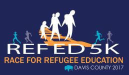 Ref Ed 5k Race for Refugee Education registration logo