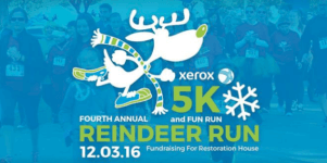 Reindeer Run 2016 for Restoration House registration logo