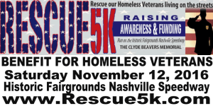 Rescue 5k benefit for Homeless Veterans registration logo