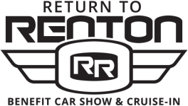 Return To Renton Car Show 2019 registration logo