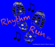 Rhythm Run 5k registration logo