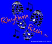 Rhythm Run 5k registration logo