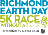 Richmond Earth Day 5K Race Without a Trace registration logo