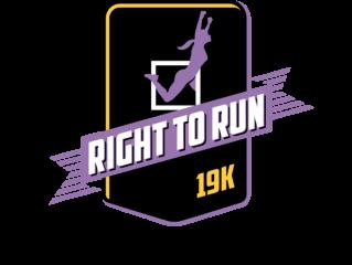 Right to Run 19K/5K registration logo