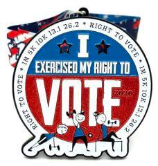 Right to Vote 1M 5K 10K 13.1 26.2 registration logo