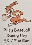 Riley Baseball Bunny Hop 5K/FunRun registration logo