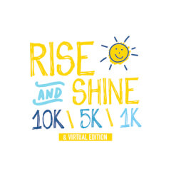 Rise and Shine Bubble 5k registration logo