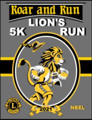 Roar & Run Lion's 5K registration logo