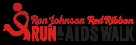 Ron Johnson Red Ribbon Run & AIDS Walk registration logo