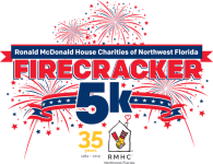 Ronald McDonald House Firecracker 5k registration logo