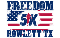 Virtual Rowlett Freedom 5K registration logo