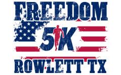 Rowlett Freedom 5K registration logo