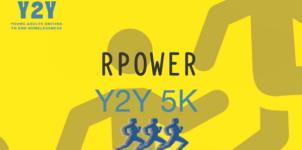 RPOWER Y2Y 5K RACE Run to eliminate homelessness registration logo