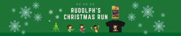 Rudolph's Christmas Virtual Race registration logo