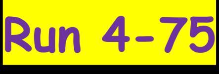 Run 4-75 registration logo