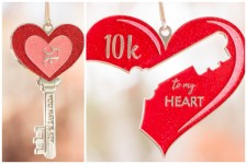 Run 4 Love 5K and 10K - You are the Key to my Heart registration logo