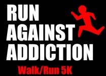 Run Against Addiction registration logo