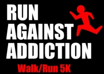 Run Against Addiction registration logo