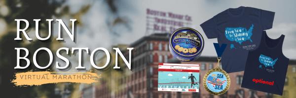 Run Boston Virtual Marathon registration logo