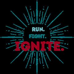 Run. Fight. Ignite. registration logo