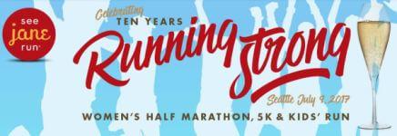 Run for a Cause - See Jane Run Seattle Half Marathon, 5K & Kids Run registration logo